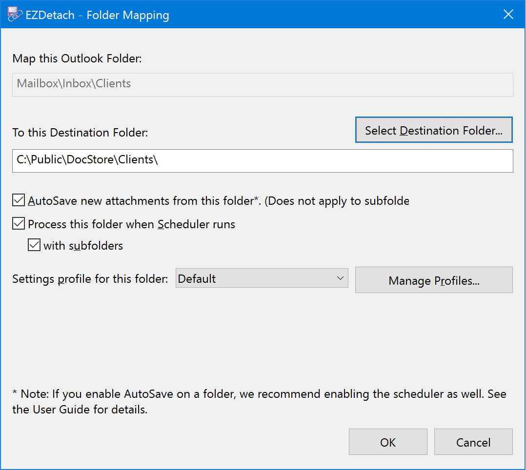 Saving Outlook Attachments — EZDetach User Guide