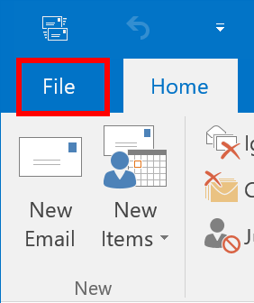 Click Ribbon File Tab