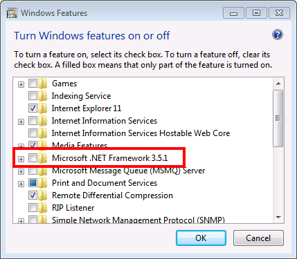 How to install Microsoft .NET Framework 3.5.1 on Windows 7