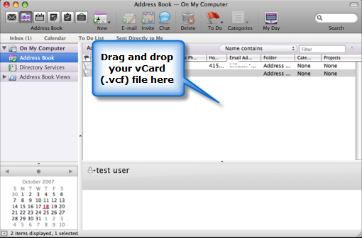 Export outlook contacts in vcard vcf format step 2c import vcard f files into outlook 2011 for mac reheart Choice Image