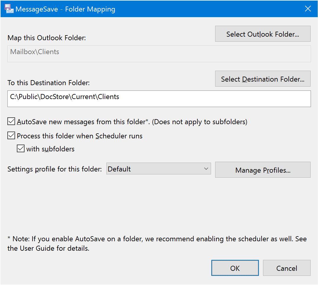 MessageSave for Microsoft Outlook screenshot