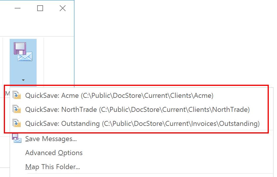 Saving Outlook Messages — MessageSave Documentation