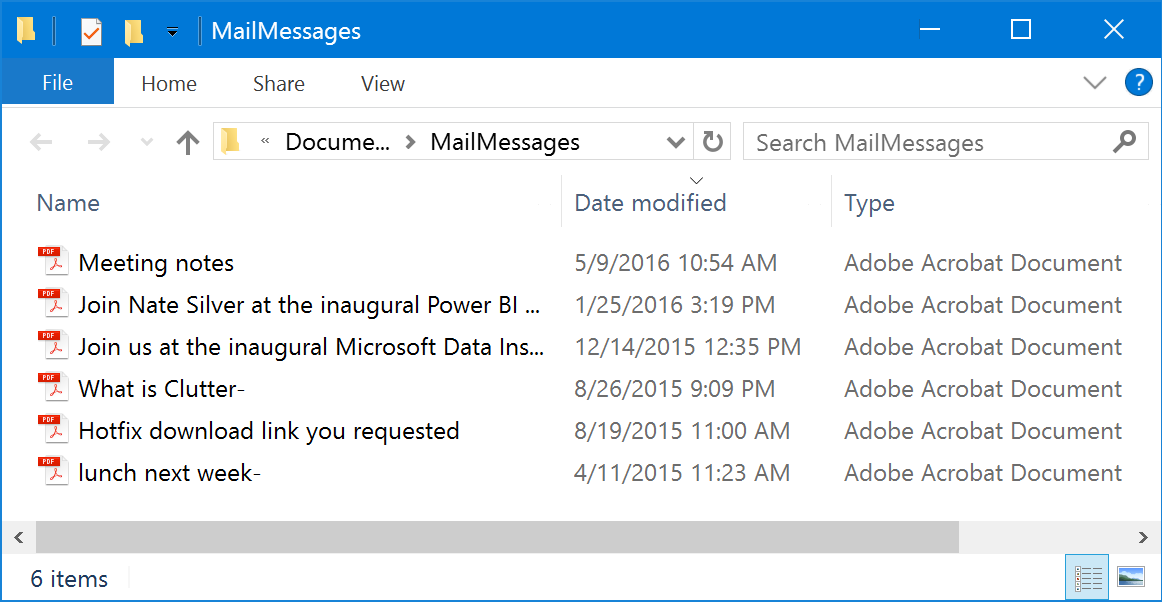 Save Outlook email messages in PDF format. Individually or ...